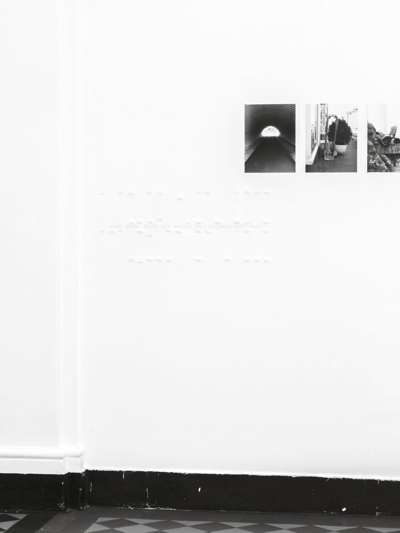 Hayahisa Tomiyasu | Abends im Bett / Reaktion 1 und 2, 2015 | 2 Bilder, 60 x 80 cm, Text, Pigment Print
